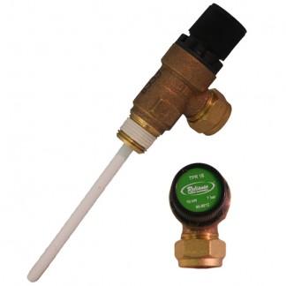 """Ariston - 7 Bar Temperature & Pressure Relief Valve 1/2"""" 969046"""