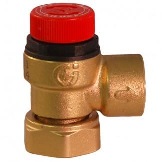 """Caleffi - 6 Bar Pressure Relief Valve 3/4"""" Loose Nut to 1/2"""" BSP 311501"""