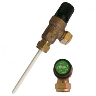 Reliance - 7 Bar TPR15 15mm CMP x 15mm CMP Temperature & Pressure Relief Valve 90-95°C