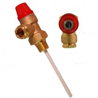"""Warmflow 7 Bar 1/2"""" 90°C Pressure and Temperature Relief Valve"""