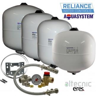 Aquasystem Potable Expansion Vessels 2,8,12,18,24,35L +Sealed System Kit+Bracket